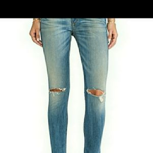 Rag and Bone skinny distressed blue jeans size 26